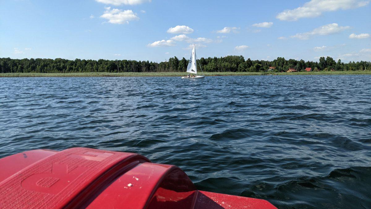 Nad jeziorem Piaseczno latem